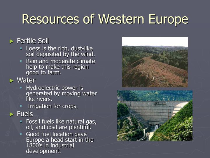 Natural Resources Not Found In The Western Region