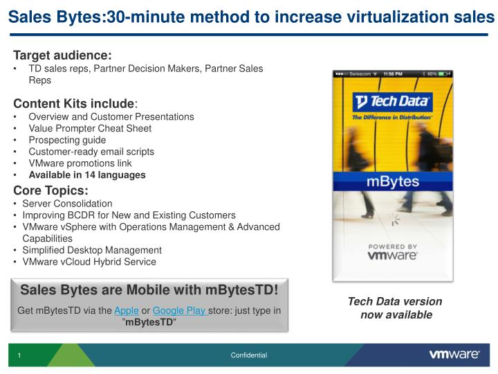 Sales bytes 30 minute method to increase virtualization sales