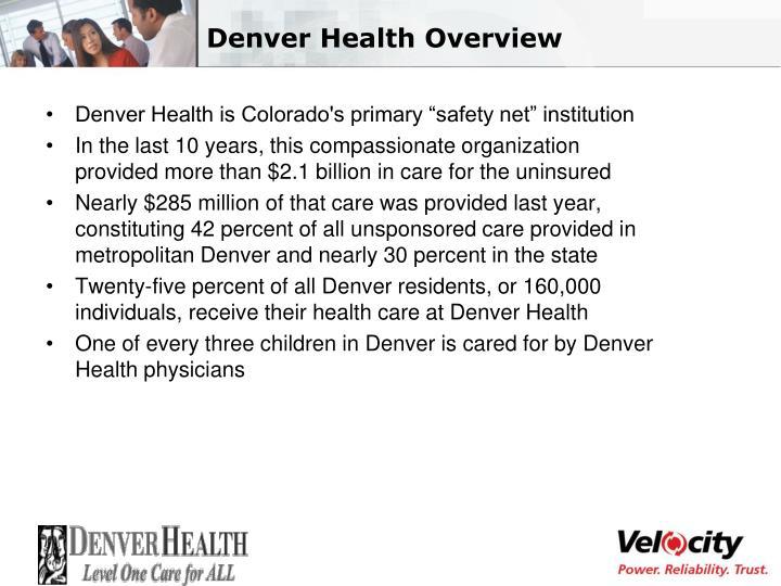 Denver health overview
