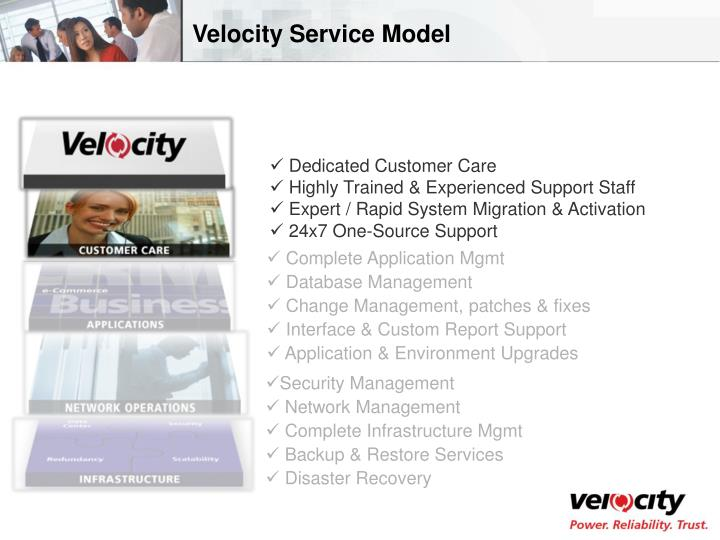 Velocity Service Model