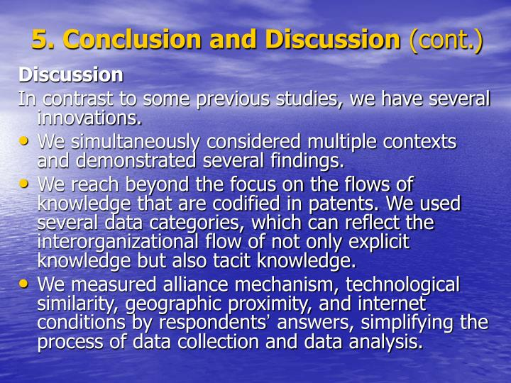 5. Conclusion and Discussion