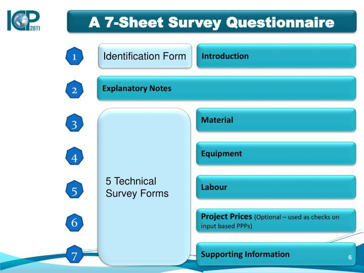 A 7-Sheet Survey Questionnaire