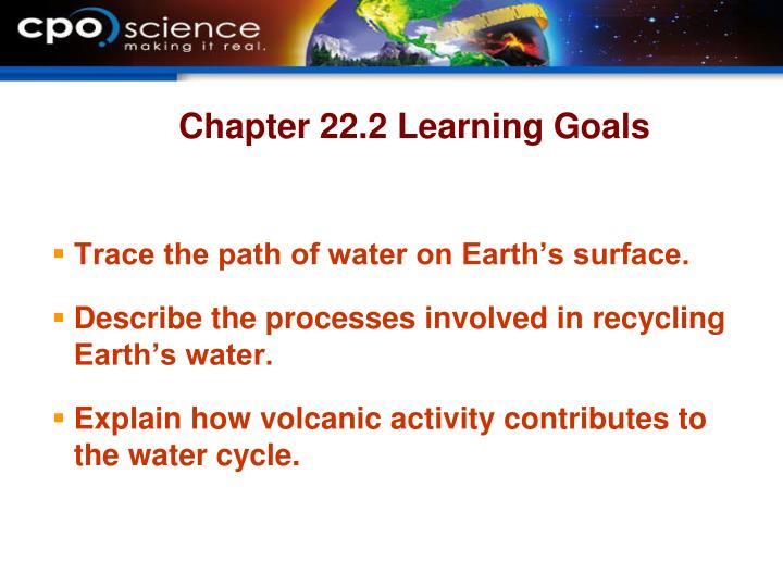Chapter 22.2 Learning Goals