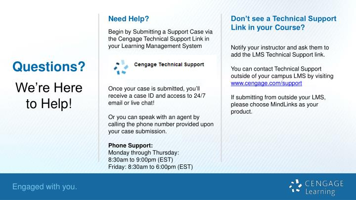 Don't see a Technical Support Link in your Course?