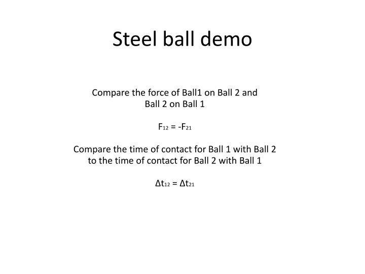 Steel ball demo