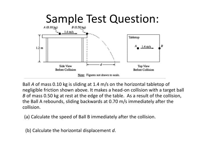 Sample Test Question: