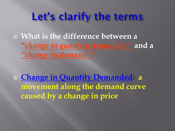 Let's clarify the terms