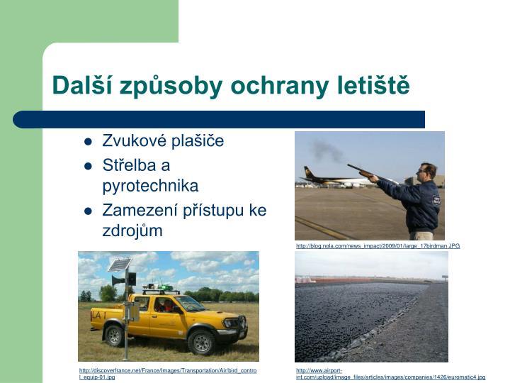 Další způsoby ochrany letiště
