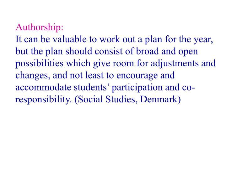 Authorship: