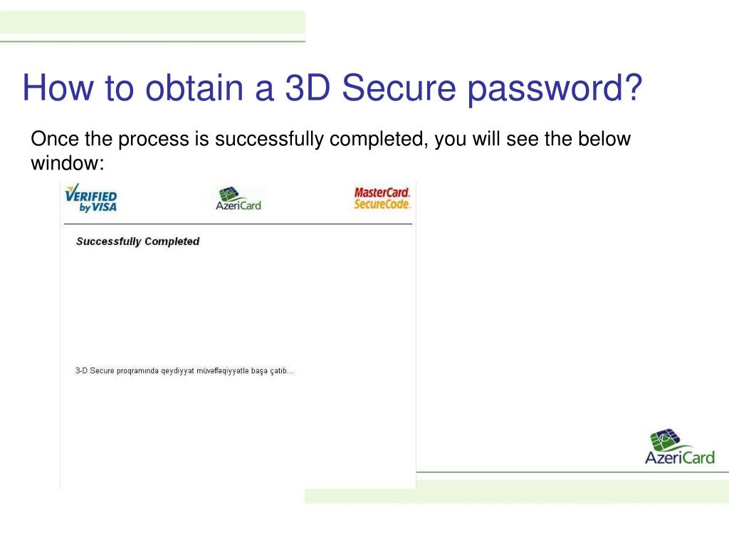 PPT - 3D Secure Secure Internet Payment Technologies
