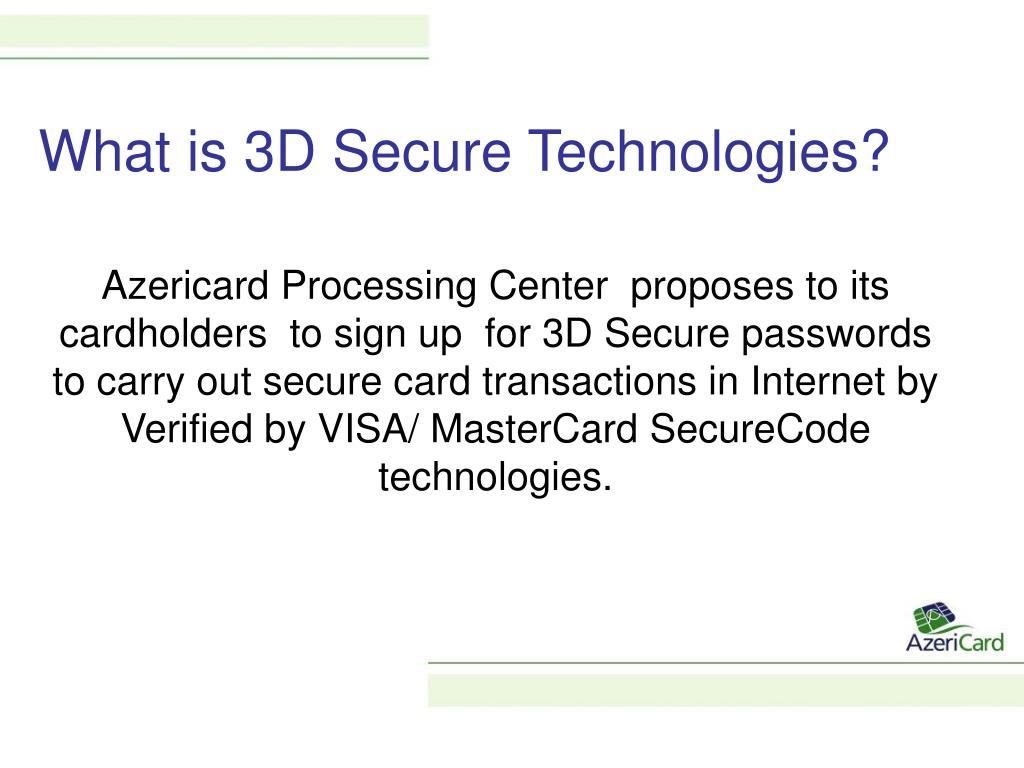 PPT - 3D Secure Secure Internet Payment Technologies PowerPoint