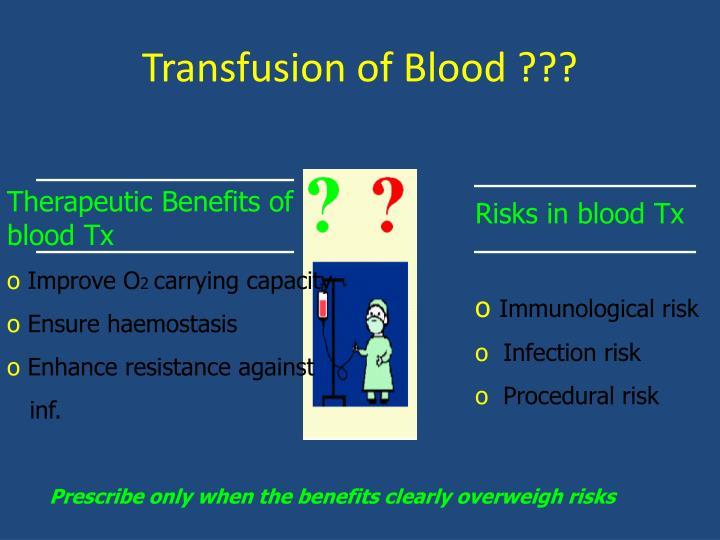 Transfusion of Blood ???