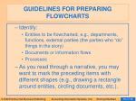 guidelines for preparing flowcharts1