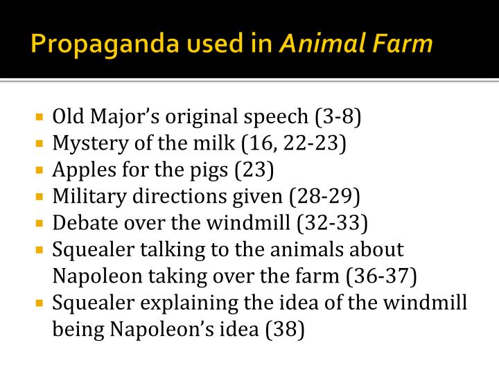 the use of propaganda in animal farm