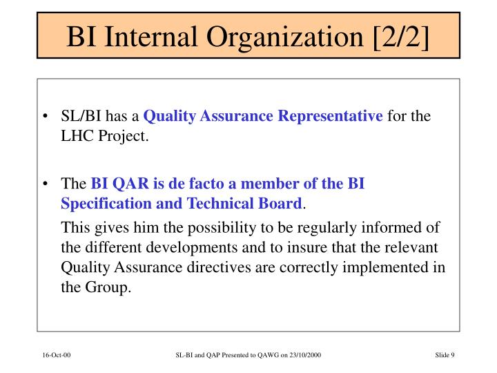 BI Internal Organization [2/2]