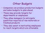 other budgets