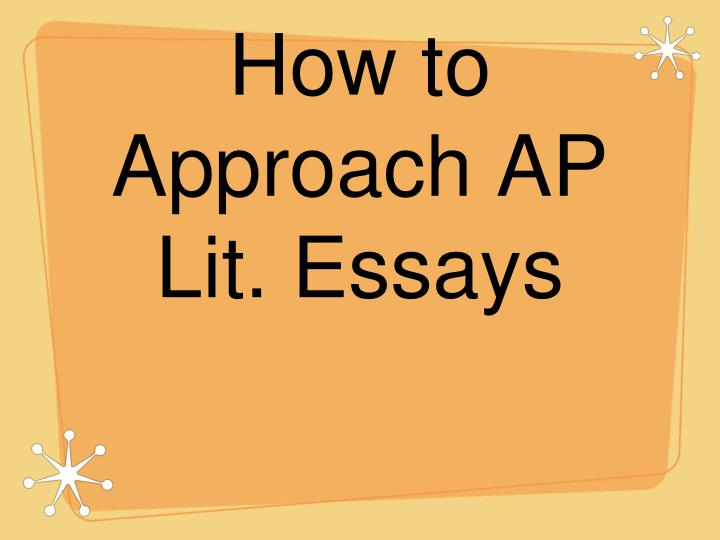 How to approach ap lit essays