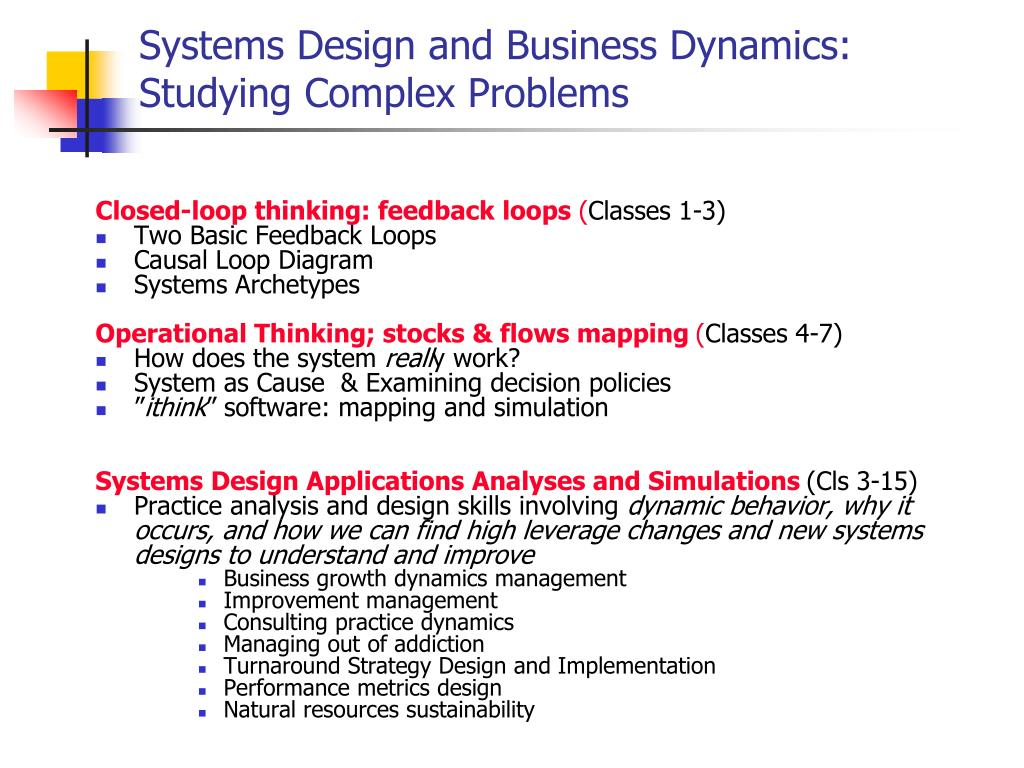 Ppt Systems Design And Business Dynamics Course Overview Powerpoint Presentation Id 6820597