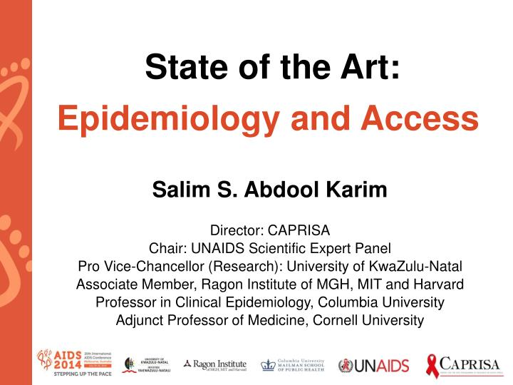 state of the art epidemiology and access n.