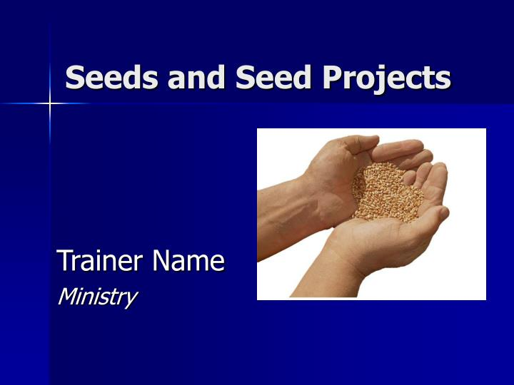 seeds and seed projects n.