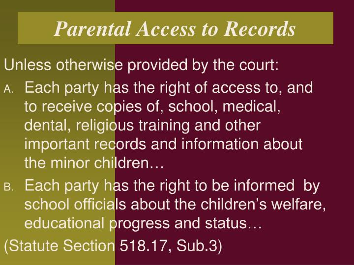 Parental Access to Records