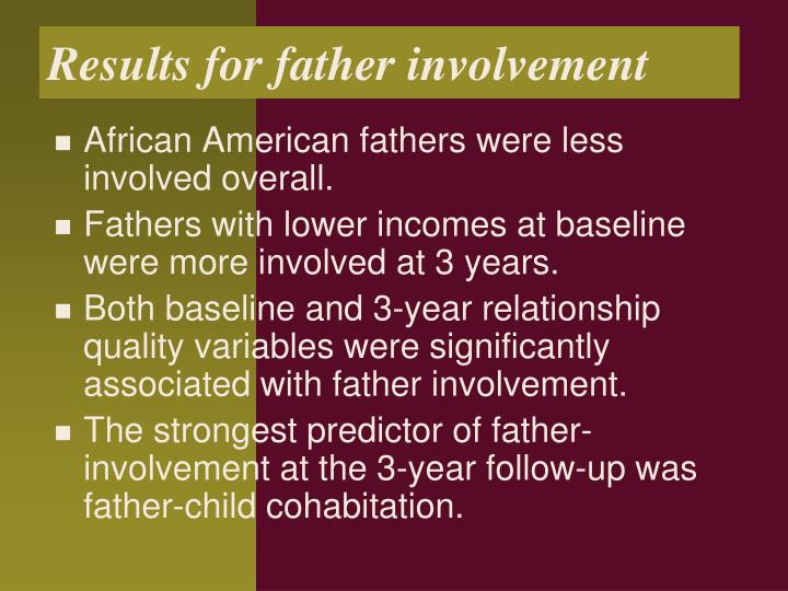 Results for father involvement