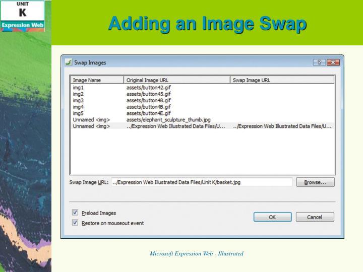 Adding an Image Swap