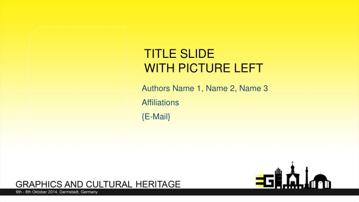 Title slide with picture left