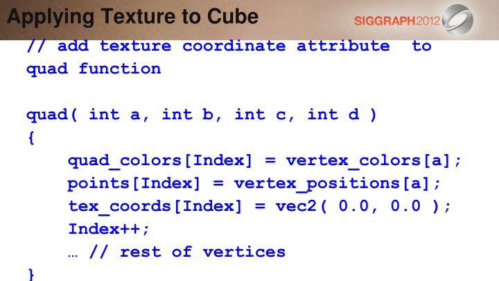 Applying Texture to Cube