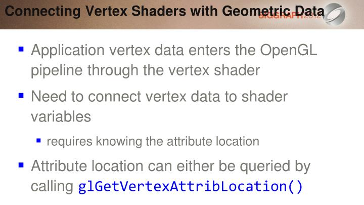 Connecting Vertex Shaders with Geometric Data