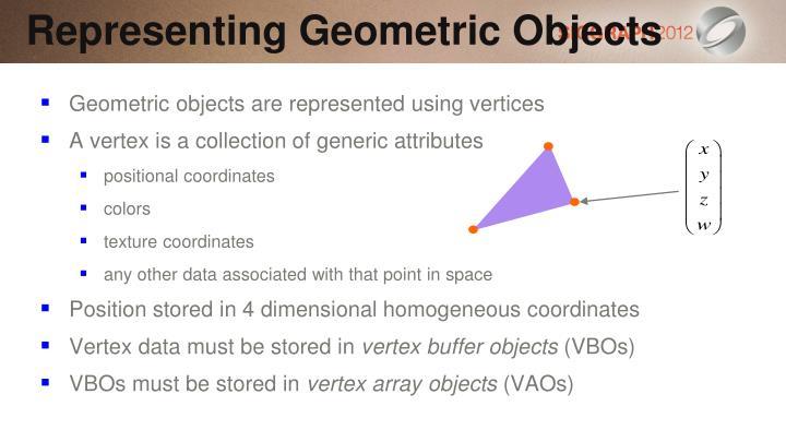Representing Geometric Objects