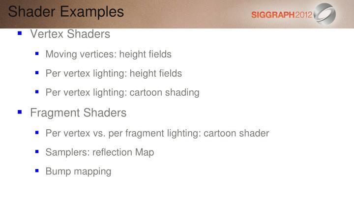 Shader Examples