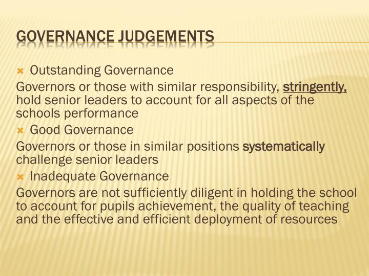 Outstanding Governance