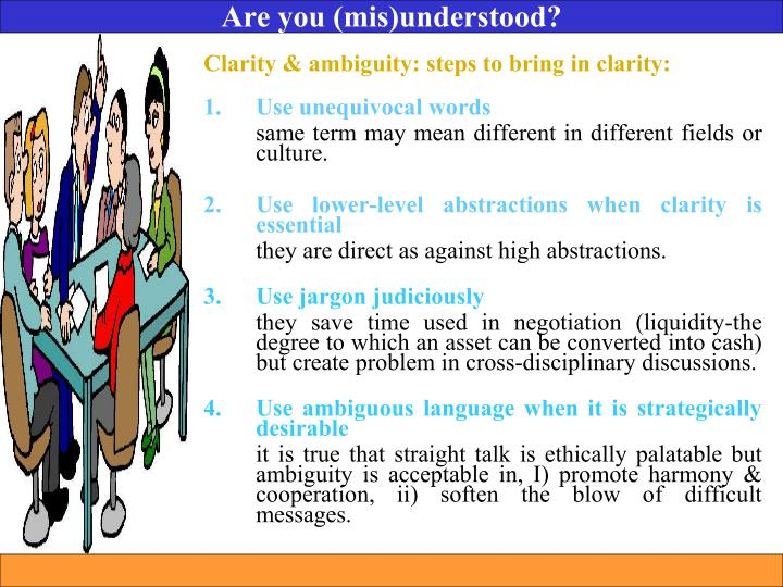 Are you (mis)understood?