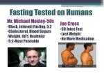 fasting tested on humans