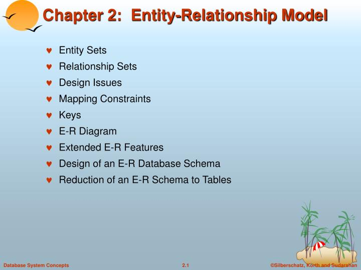 Ppt - Chapter 2  Entity-relationship Model Powerpoint Presentation