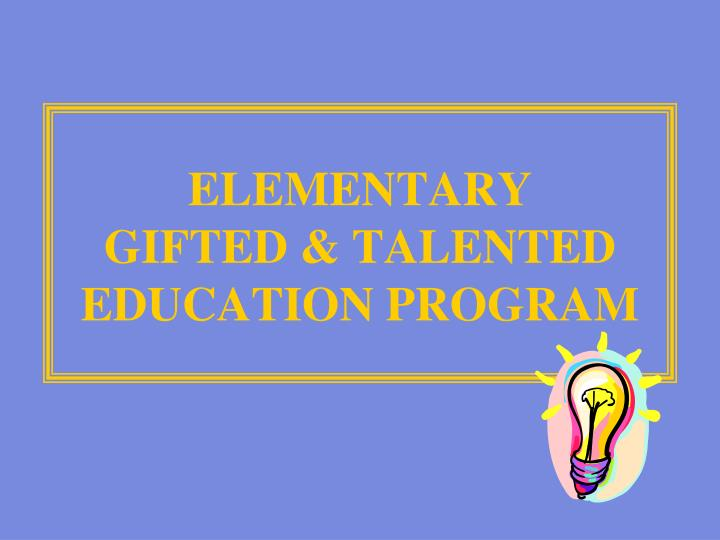 the creation and the original objectives of americas gifted talented programs in the 1970s Gifted and talented ppt 16,995 views gifted and talented ppt 1 by: connie greer, erica klein, and allene moore 6 student possessing outstanding imagination, thinking ability, innovative or creative reasoning ability, ability in problem solving, and/or high attainment in original or creative.