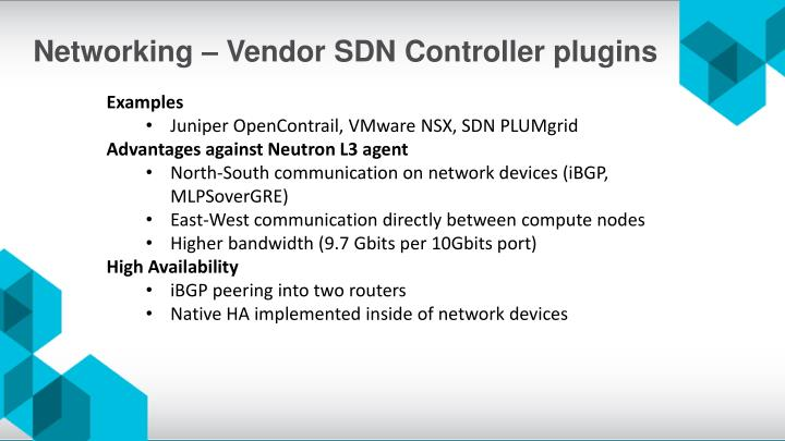 Networking – Vendor SDN Controller plugins