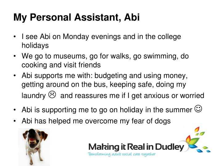 My Personal Assistant, Abi