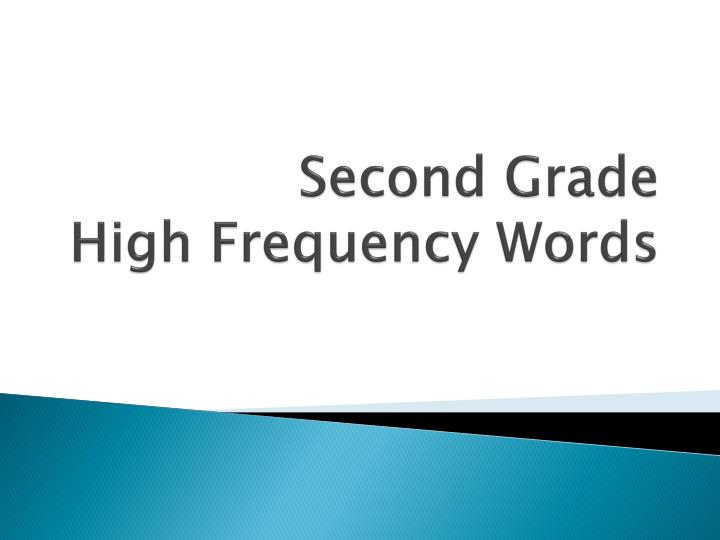 second grade high frequency words n.
