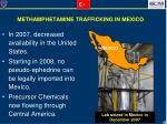 methamphetamine trafficking in mexico