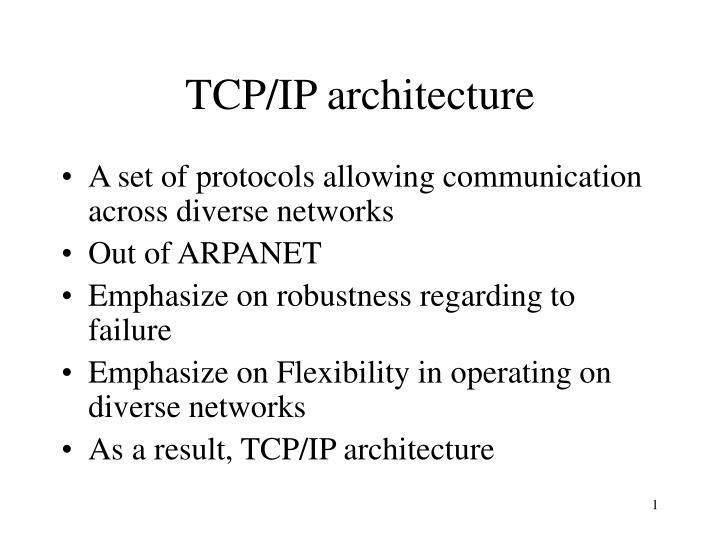 tcp ip architecture n.