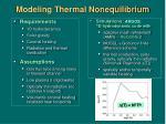 modeling thermal nonequilibrium