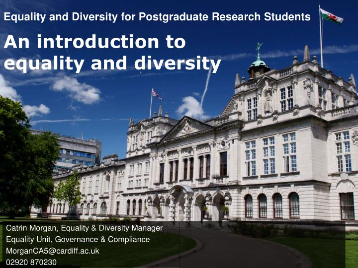 equality and diversity for postgraduate research students n.