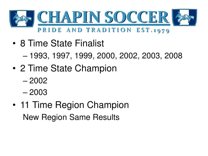 8 Time State Finalist