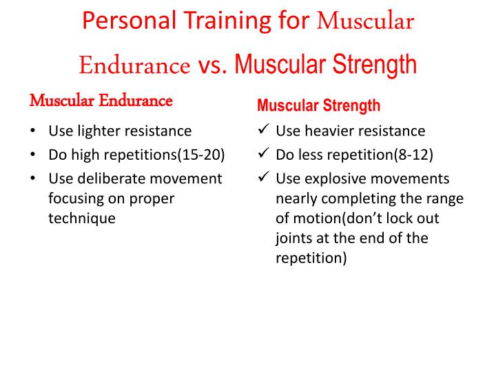 Personal Training for