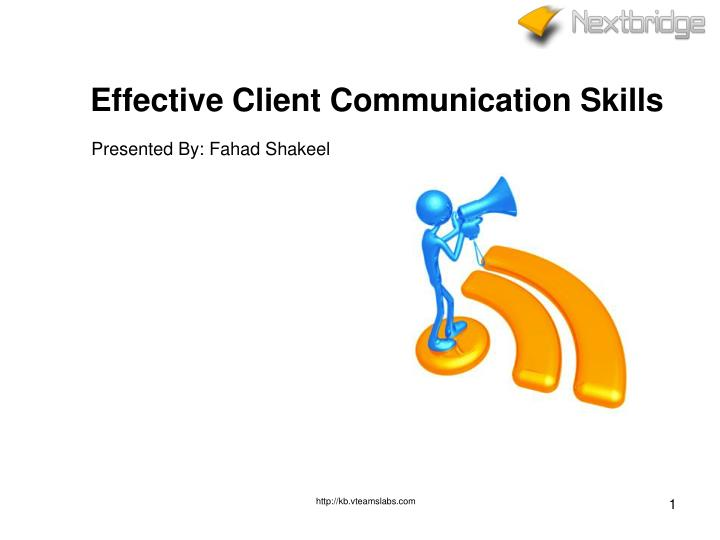 effective client communication skills n.