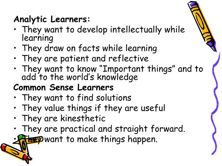 Analytic Learners: