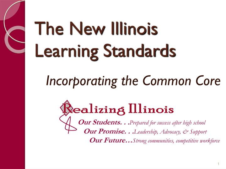 the new illinois learning standards n.