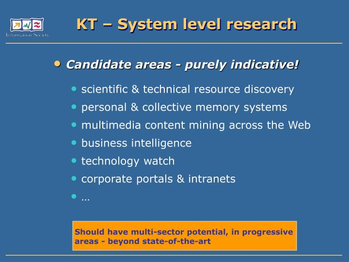 KT – System level research